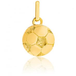 Pendentif ballon de foot, Or jaune 9 ou 18 carats - Lucas Lucor