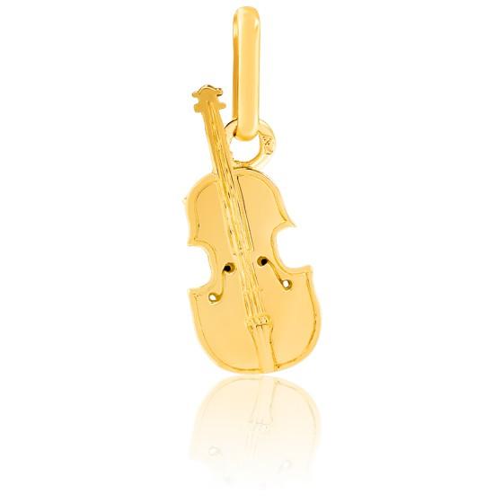 Pendentif violon, Or jaune 9 ou 18 carats - Lucas Lucor
