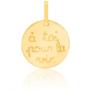 Pendentif A toi pour la vie, Or jaune 9 ou 18 carats - Lucas Lucor