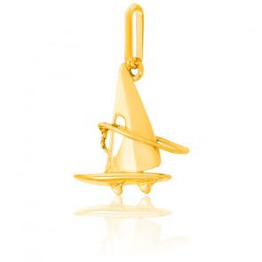 Pendentif Planche à voile, Or jaune 9 ou 18K - Lucas Lucor