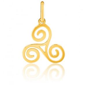 Pendentif Triskel ajouré, Or jaune 9 ou 18 carats - Lucas Lucor