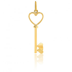 Pendentif clé coeur, Or jaune 9 ou 18 carats - Lucas Lucor