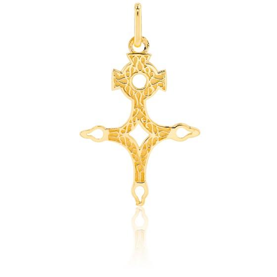 Croix du Sud branches ajourées, Or jaune 9 ou 18K - Lucas Lucor