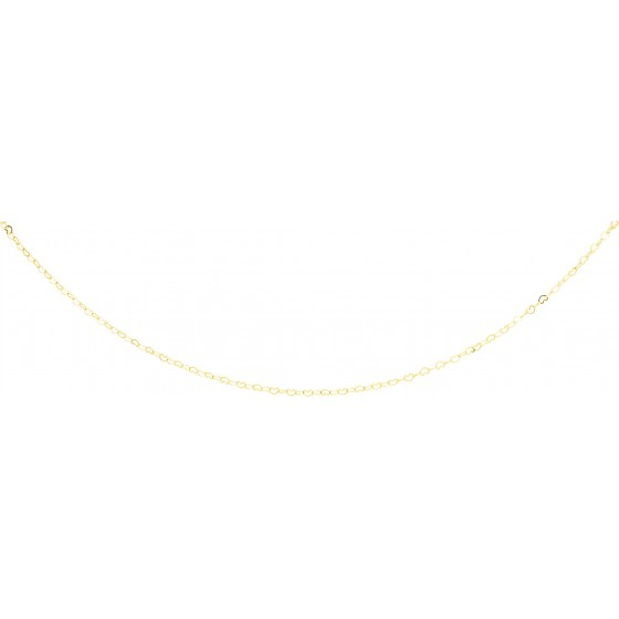 Chaine maille coeur, Or jaune 18 carats - Emanessence