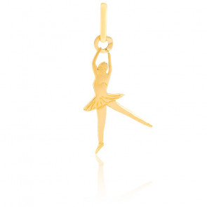 Pendentif Danseuse Arabesque, Or jaune 9 ou 18K - Lucas Lucor