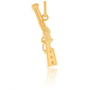 Pendentif Carabine Winchester, Or jaune 9 ou 18K - Lucas Lucor
