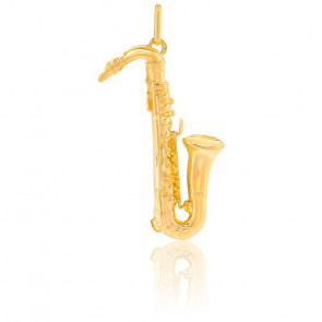 Pendentif Saxophone, Or jaune 9 ou 18 carats - Lucas Lucor