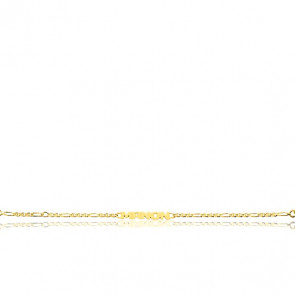 Bracelet Prénom Maille Marine, Or jaune 18K - Emanessence