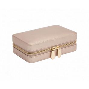 Boîte à Bijoux Voyage Zip Cuir Rose Gold Palermo - Wolf 1834