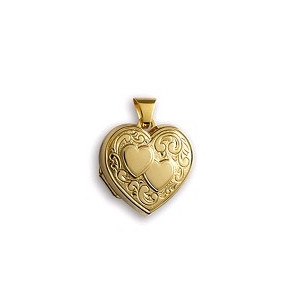 Pendentif porte photo coeur, Or jaune 18K - Lucas Lucor