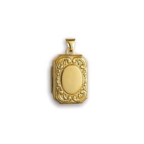 Pendentif porte photo rectangle, Or jaune 18K - Lucas Lucor