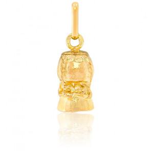 Pendentif Bouchon de Champagne, Or jaune 9 ou 18K - Lucas Lucor