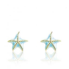 Boucles d'oreilles Etoile de Mer, Or jaune 9 ou 18K - Emanessence