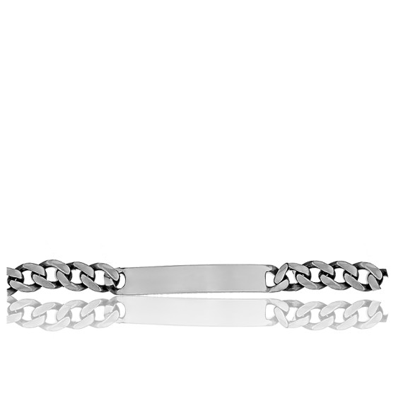Gourmette Maille gourmette 8 mm, Argent - Emanessence
