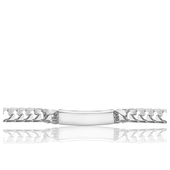 Gourmette Maille gourmette 9.6 mm, Argent - Emanessence