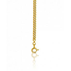 Chaîne maille gourmette, Or jaune 18 carats, 45 cm