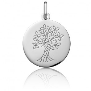 Médaille Arbre de Vie, Or blanc 18K - Argyor