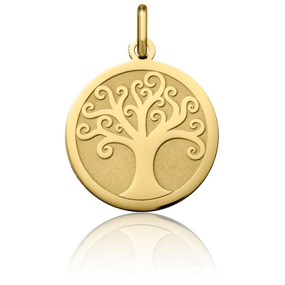 Médaille Arbre de Vie Arabesque, Or jaune 18K - Argyor