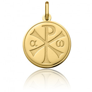Médaille Chrisme finition polie, Or jaune 18K - Argyor