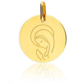 Médaille Vierge en Prière, Or Jaune 9K ou18K - Lucas Lucor
