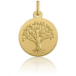Médaille Arbre de Vie Relief, Or Jaune 9K - Argyor
