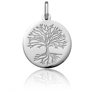 Médaille Arbre de Vie Racines, Or Blanc 18K - Argyor