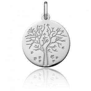 Médaille Arbre de Vie Automne, Or Blanc 18K - Argyor