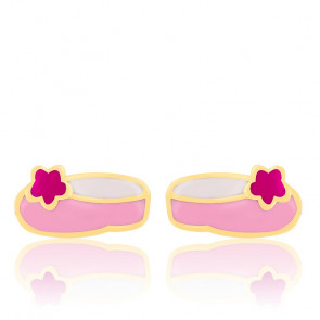 Boucles d'oreilles Ballerines, Email & Or jaune - Bambins