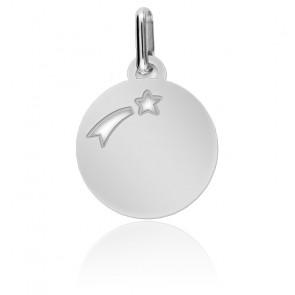 Médaille Etoile Filante, Or Blanc - Lucas Lucor