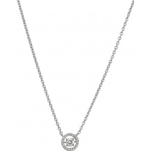 Collier diamants, Or blanc 18 carats - Emanessence