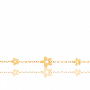 Bracelet enfant Fleurs ajourées, Or jaune 18 carats - Bambins