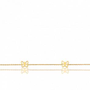 Bracelet Papillons ajourés,  Or jaune 18 carats - Bambins