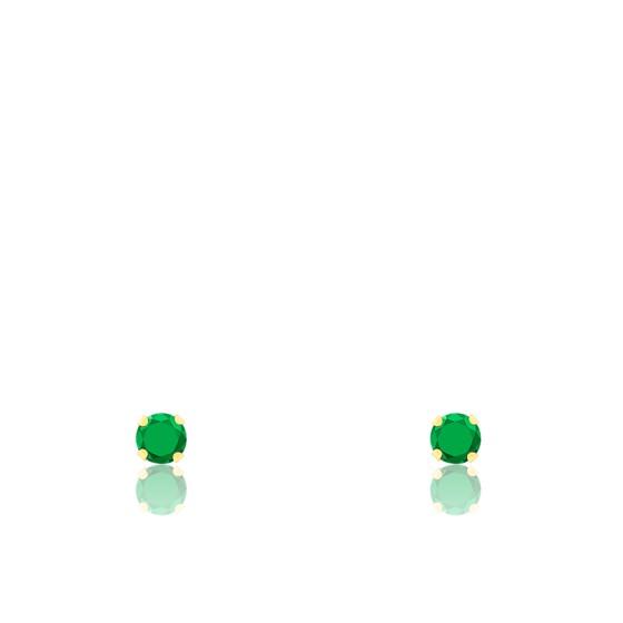 Boucles d'oreilles Émeraude et Or jaune 18 carats - Emanessence