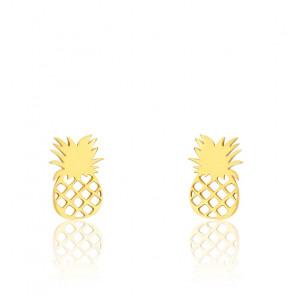 Boucles d'oreilles ananas, Or Jaune 9 carats -Scarlett or Scarlett