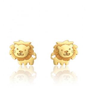 Boucles d'oreilles Lion, Or jaune 9K - Bambins
