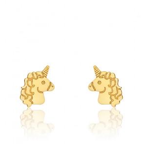 Boucles d'Oreilles Licorne, Or Jaune 9K - Bambins