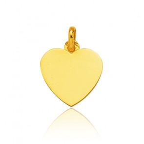 Pendentif cœur, Or jaune 9 ou 18 carats - Emanessence