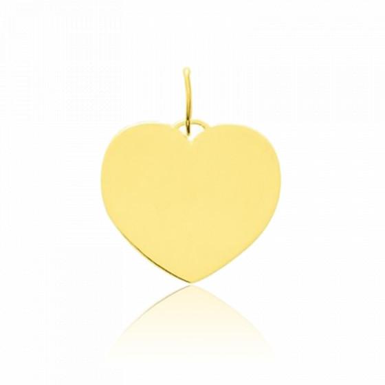 Pendentif cœur poli, Or jaune 9 ou 18 carats - Emanessence