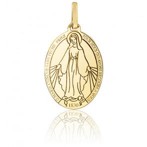 Médaille Vierge Miraculeuse moderne, Or jaune 9K ou 18K - Lucas Lucor