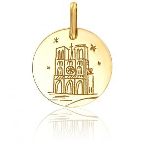 Médaille Notre-Dame de Paris, Or jaune 9K ou 18K - Lucas Lucor