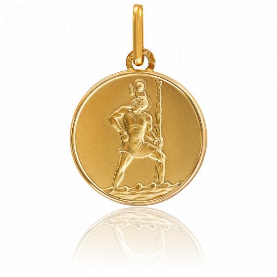 Médaille Saint Christophe, Or Jaune 9K ou 18K - Lucas Lucor