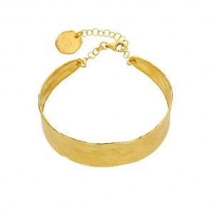 Bracelet jonc petit Antic  , Argent doré - Rosatella