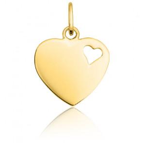Pendentif cœur ajouré, Or jaune 9 ou 18K - Emanessence