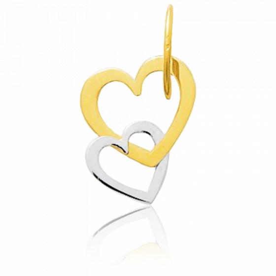 Pendentif coeurs enlacés, 2 Ors 9 carats - Emanessence