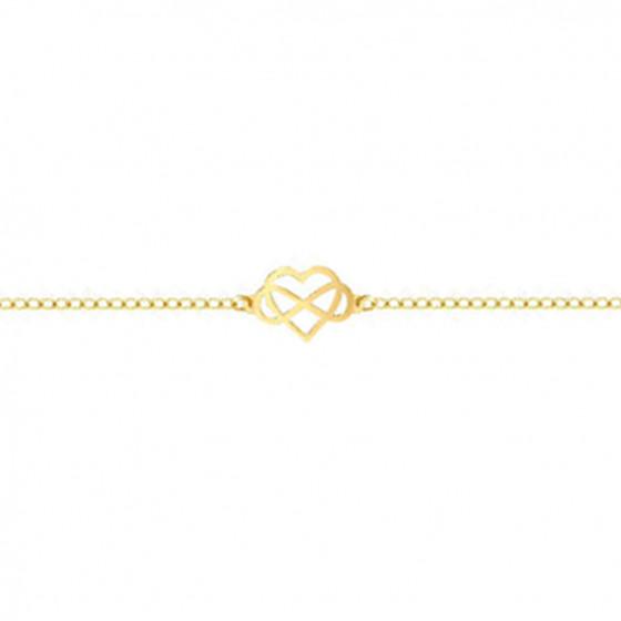 Bracelet cœur infini ajouré, Or jaune 18K - Rosatella