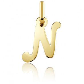 Pendentif lettre N, Or jaune 18 carats - Argyor