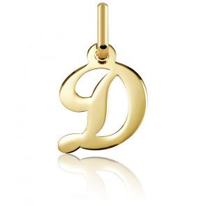 Pendentif lettre D, Or jaune 18 carats - Argyor