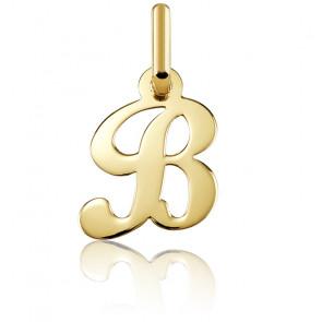 Pendentif lettre B, Or jaune 18 carats - Argyor