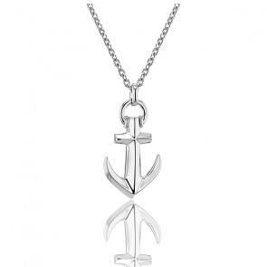 Collier Rho Ancre, Argent massif - Emanessence