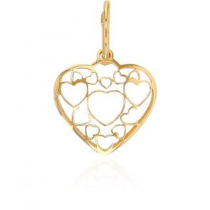 Pendentif coeur art déco, Or jaune 18K - Rosatella